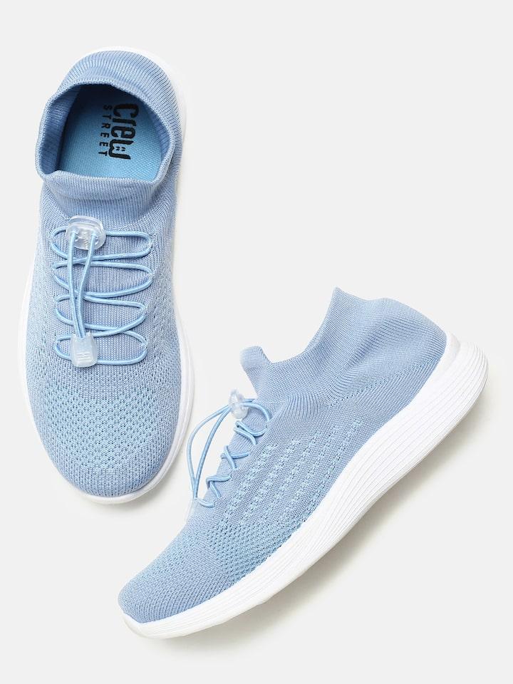 Buy Crew STREET Women Blue Sneakers