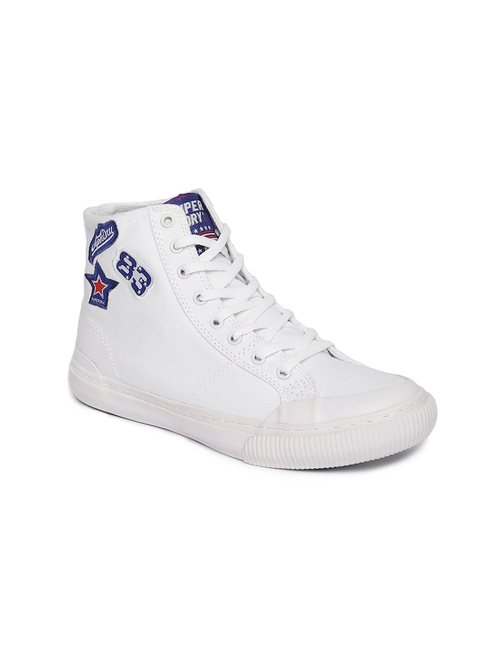 Buy Superdry Women White Solid Canvas