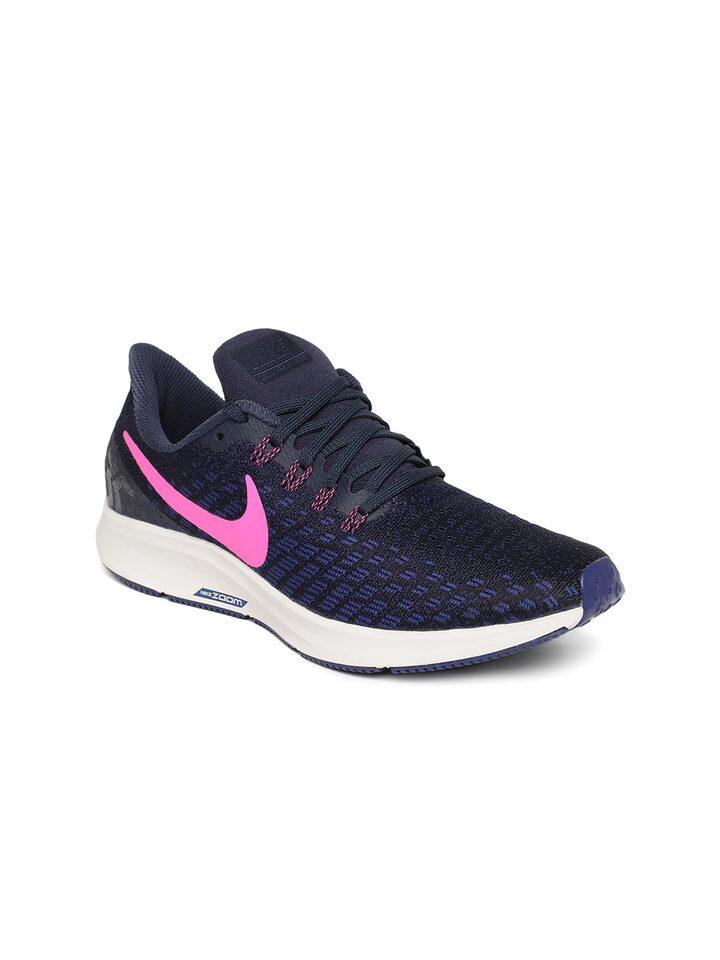 Sitio de Previs Orbita giro  Buy Nike Women Blue & Black Air Zoom Pegasus 35 Running Shoes - Sports Shoes  for Women 6676853   Myntra