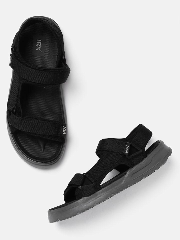 Hrithik Roshan Men Black Sports Sandals