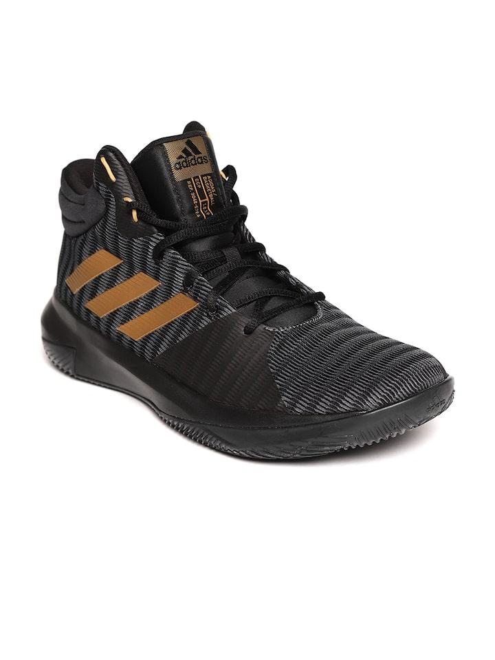Unir gusto Usando una computadora  Buy ADIDAS Men Black & Grey Pro Elevate 2018 Basketball Shoes - Sports  Shoes for Men 6841588 | Myntra