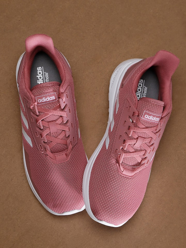 946c3030f5b8 ADIDAS Women Pink Solid Duramo 9 Running Shoes