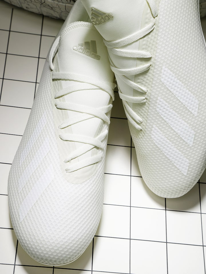 Buy ADIDAS Men Off White Football Shoes