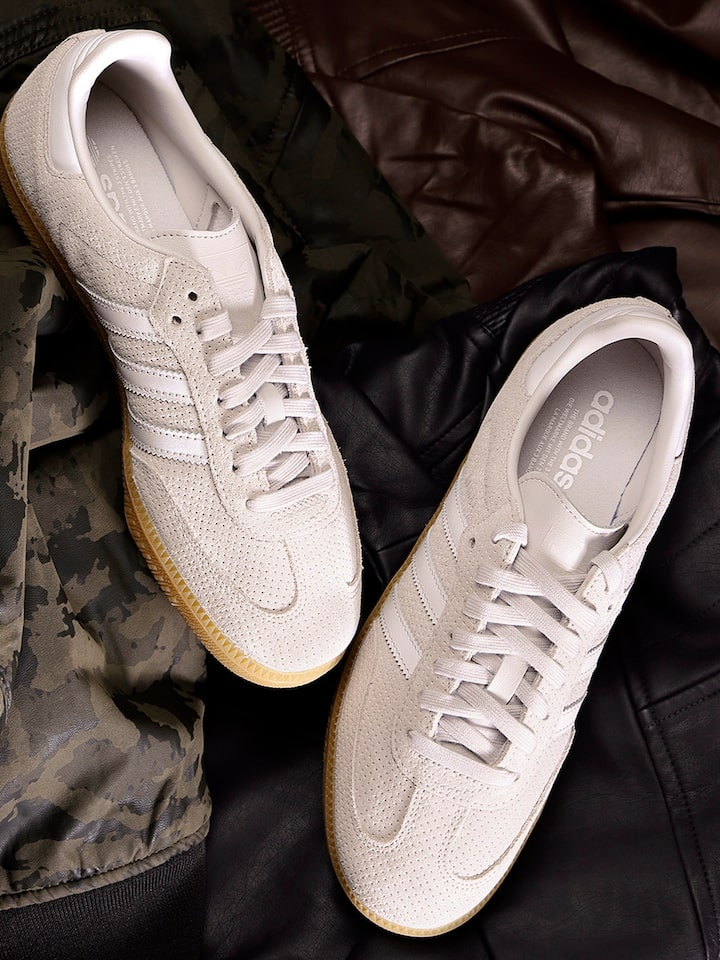 Surgir puente Polar  Buy ADIDAS Originals Women Grey Samba OG Suede Sneakers - Casual Shoes for  Women 6842366 | Myntra