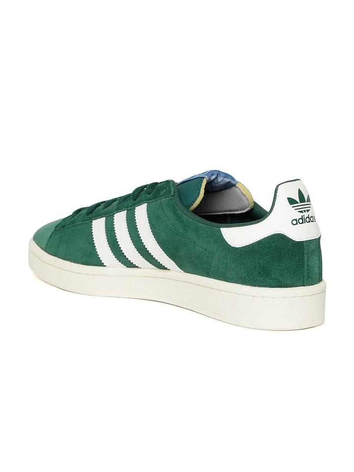 Lechuguilla No complicado Instantáneamente  Buy Adidas Originals Men Green Campus Suede Sneakers - Casual Shoes for Men  6842576 | Myntra