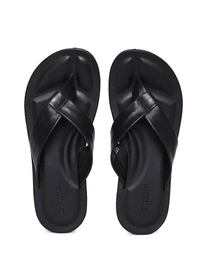 Buy Dune London Men Black Leather Solid