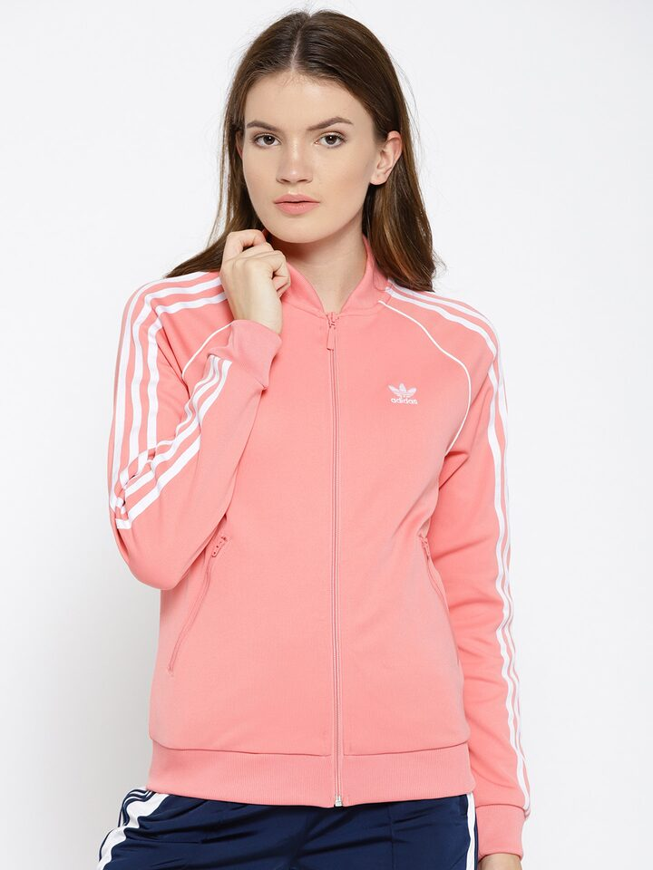 Horizontal ligeramente Patético  Buy ADIDAS Originals Women Pink Solid SST Track Jacket - Jackets for Women  7010834 | Myntra