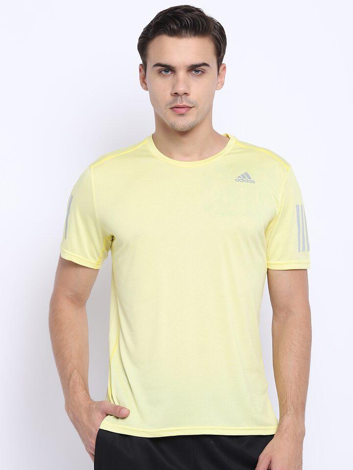 Expulsar a Formular fantasma  Buy ADIDAS Men Yellow Response Cooler Solid Running T Shirt - Tshirts for  Men 7101407   Myntra