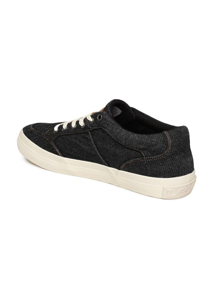Buy Levis Men Black BASS LOW Sneakers