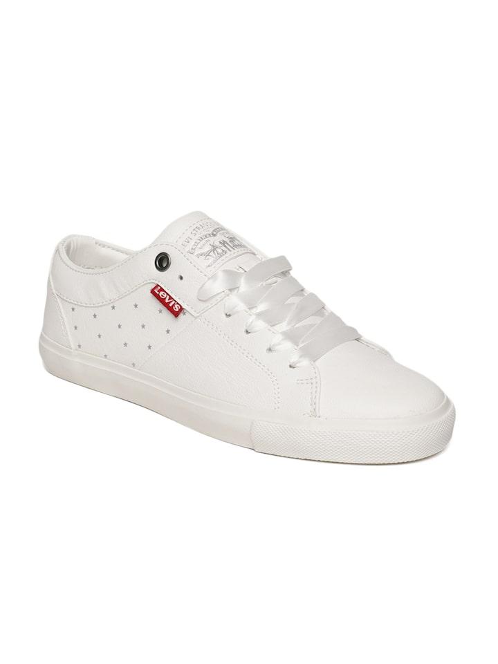Buy Levis Men White WOODS Sneakers