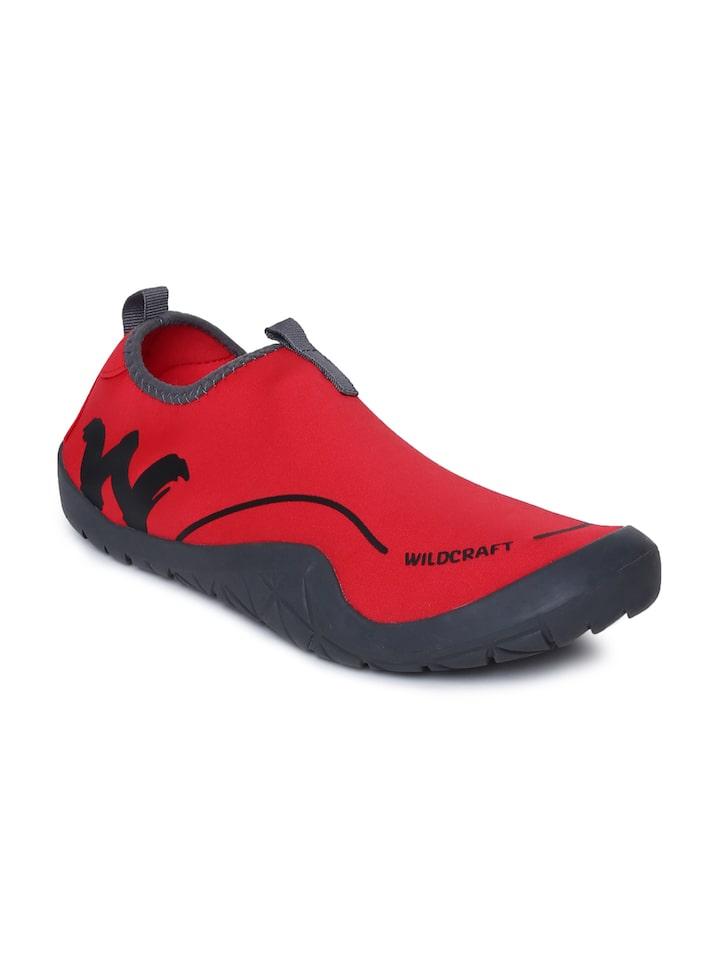 Buy Wildcraft Men Red Slip On Sneakers