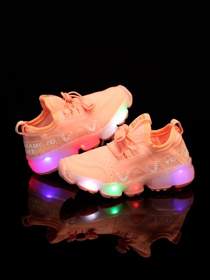 Walktrendy Girls Pink ???????LED Light