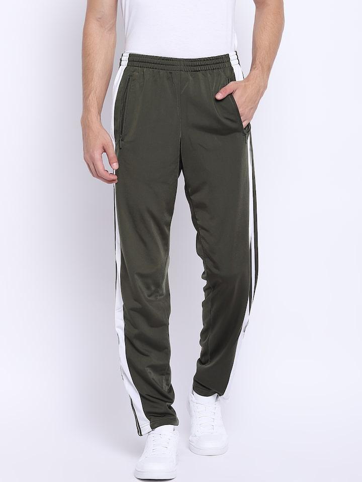 best sneakers 999f1 79ef8 ADIDAS Originals Men Olive Green Adibreak Track Pants