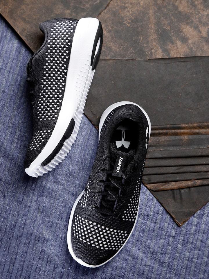 Black \u0026 White Rapid Running Shoes