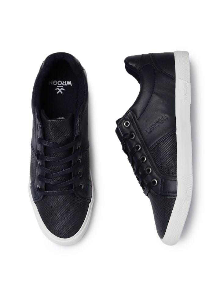 Buy WROGN Men Navy Blue Sneakers