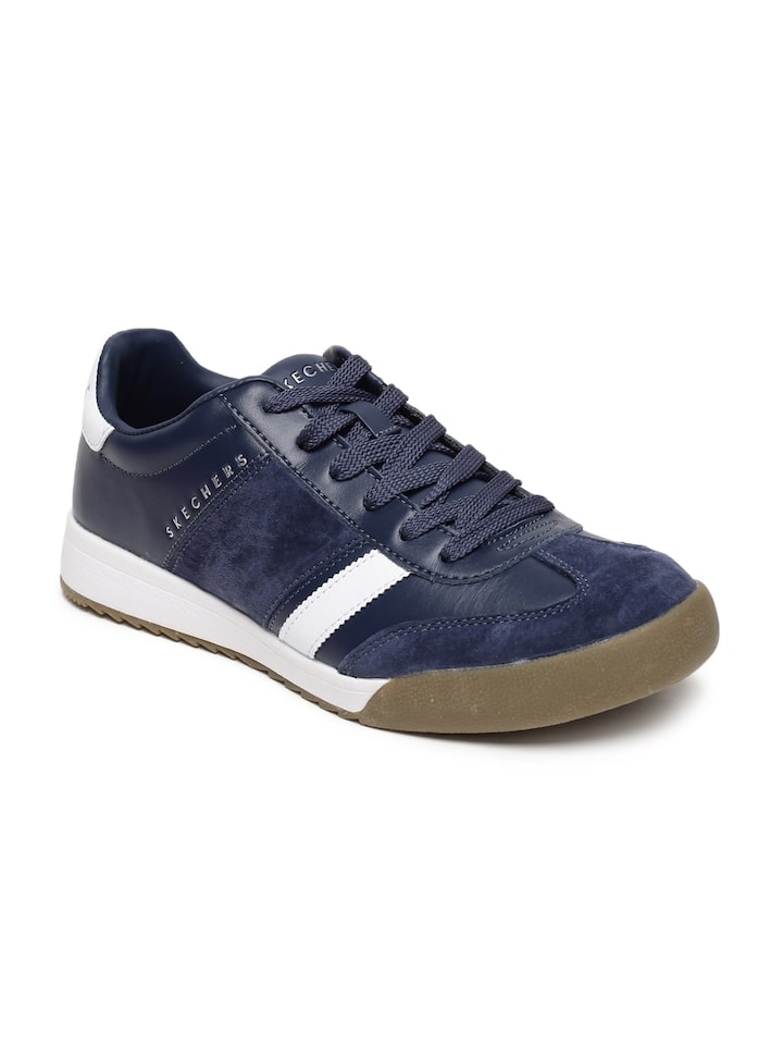 personal solidaridad Momento  Buy Skechers Men Navy Blue Zinger Scobie Leather Football Shoes - Sports  Shoes for Men 7777750   Myntra