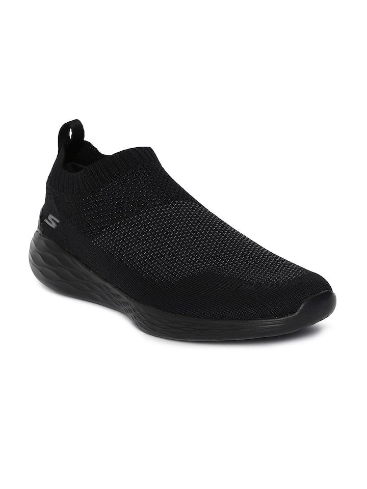 Buy Skechers Men Black GO STRIKE Slip