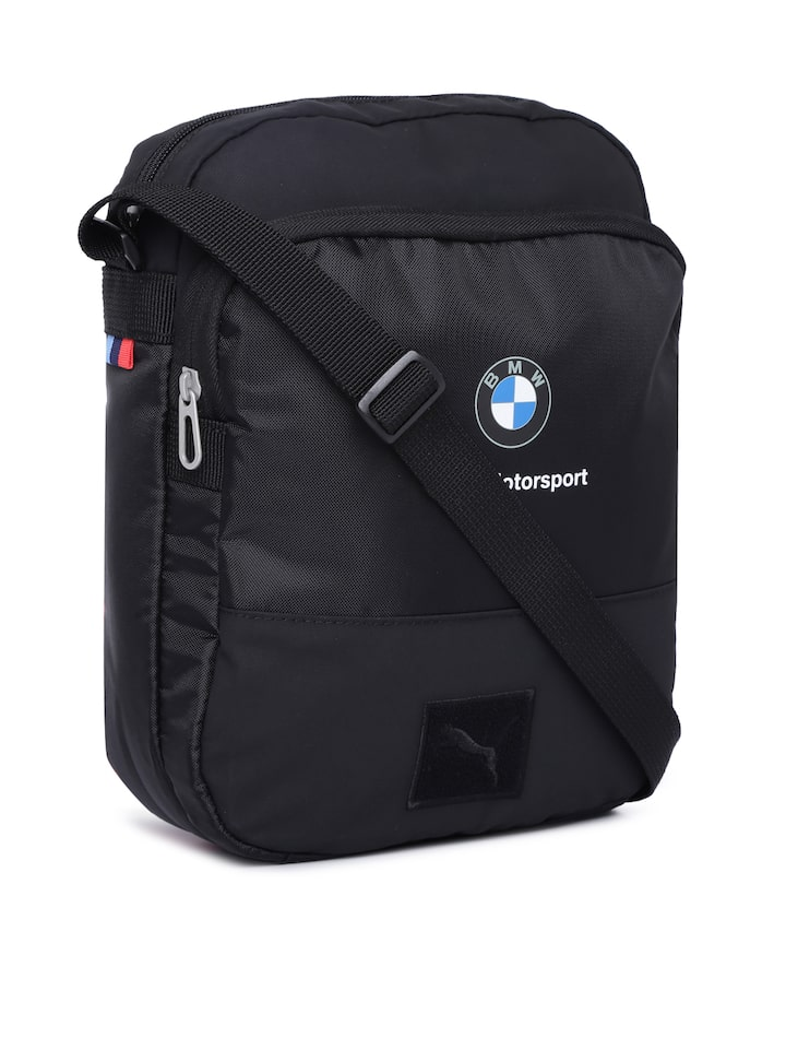 Puma Unisex Black Solid BMW Motorsport Messenger Bag