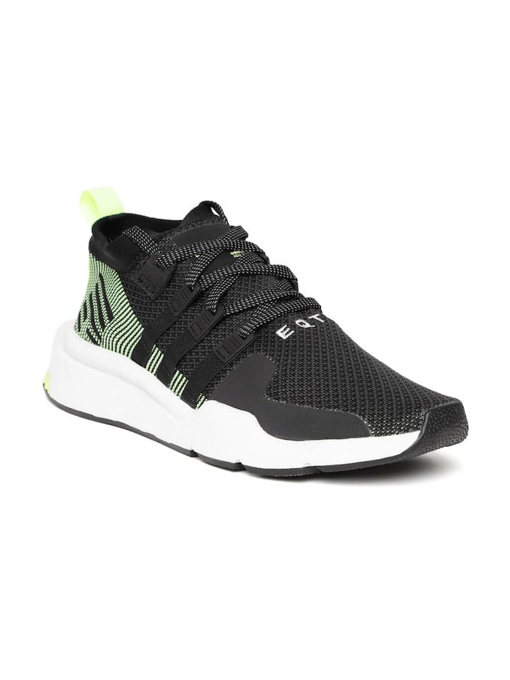 ADIDAS Originals Men Black EQT Support Mid ADV Sneakers
