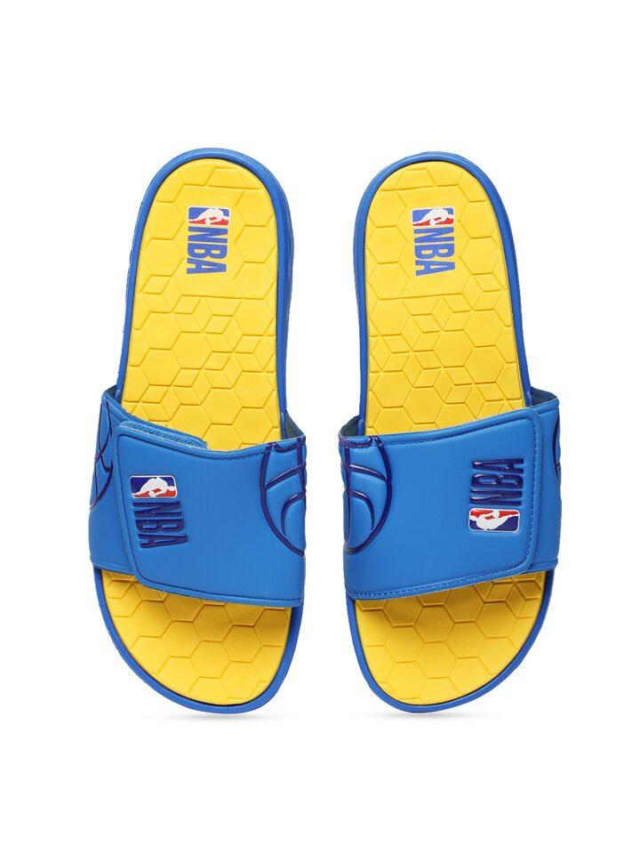 Buy NBA Men Blue \u0026 Yellow Printed