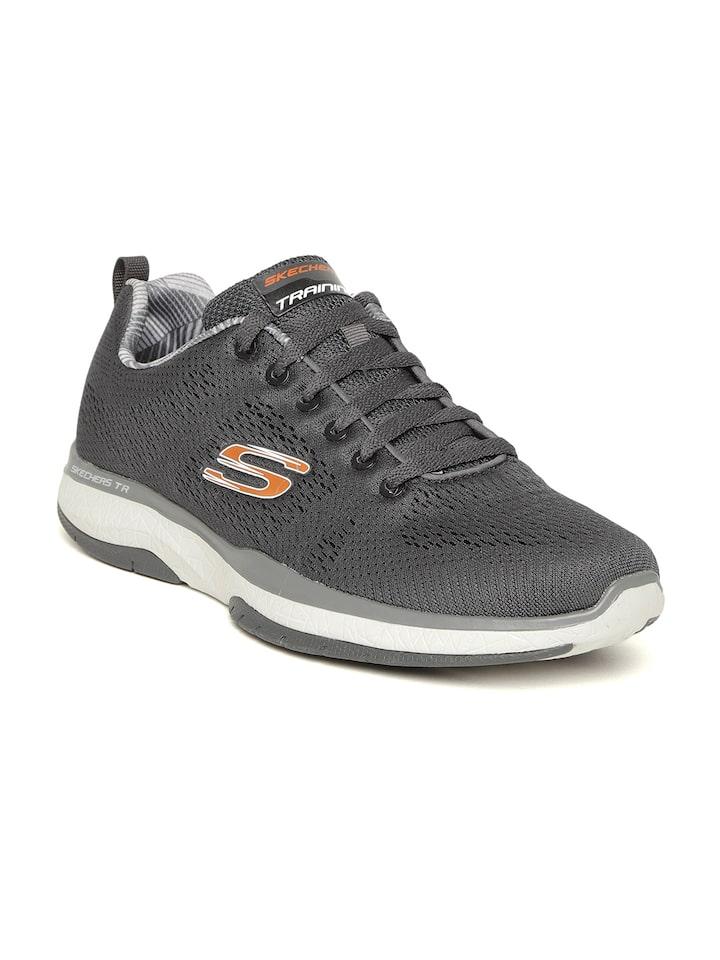 Buy Skechers Men Charcoal Grey Burst