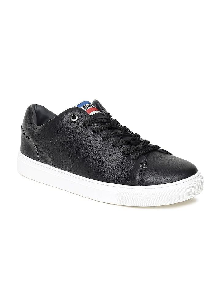 Buy Levis Men Black Vernon Sneakers