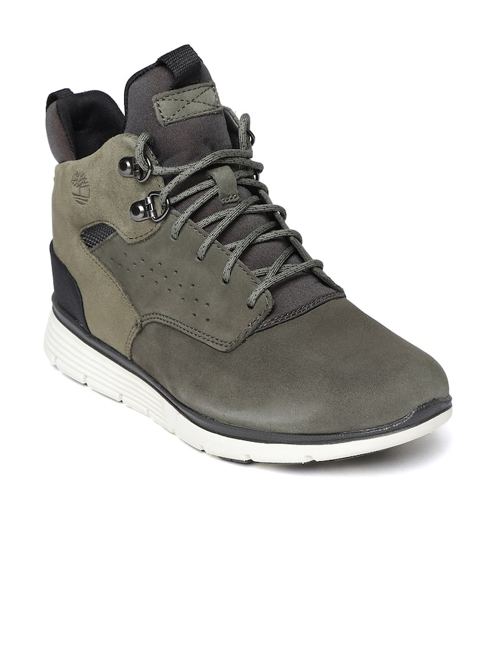 Buy Timberland Kids Olive Green Leather