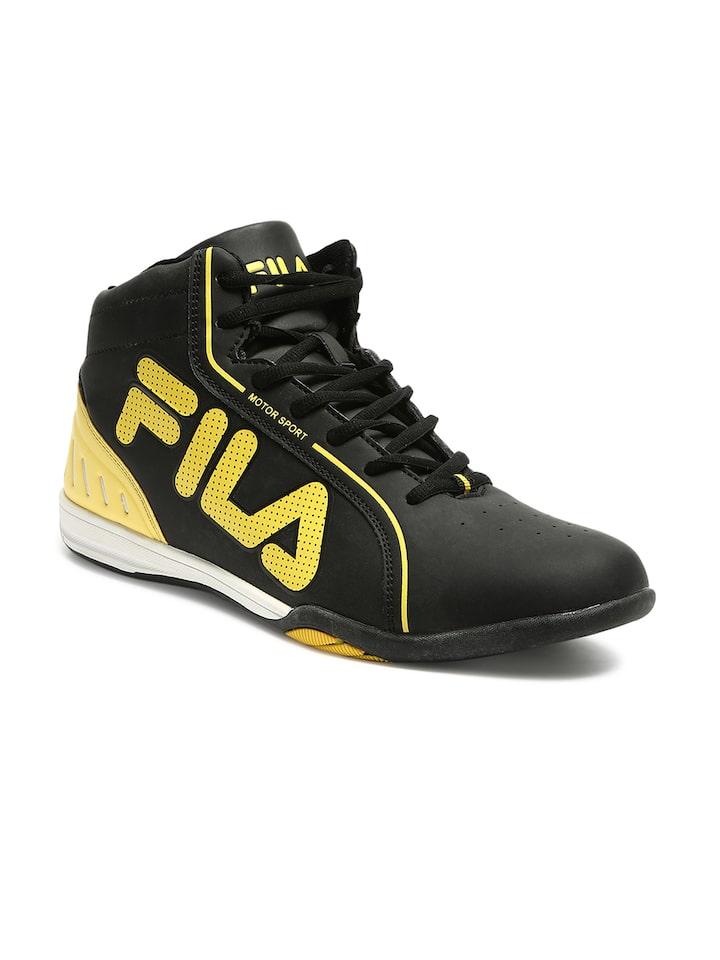Buy FILA Men Black \u0026 Yellow ISONZO II