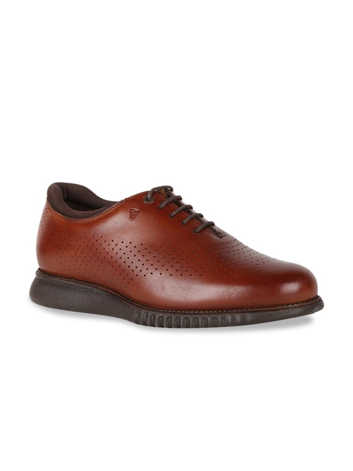 Buy Van Heusen Men Brown Leather Derbys