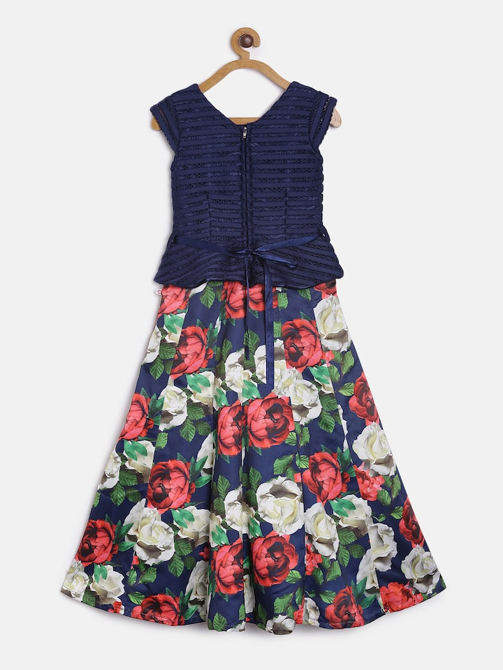 Little Girls Navy and Red Dot Boutique Outfit