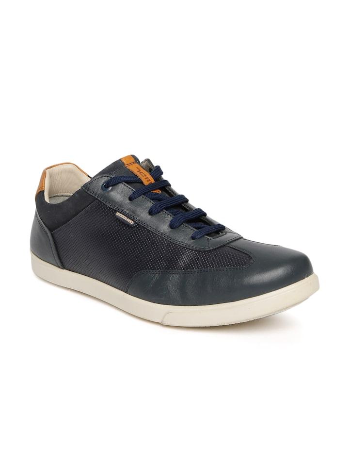 Buy Woodland Men Navy Blue Sneakers