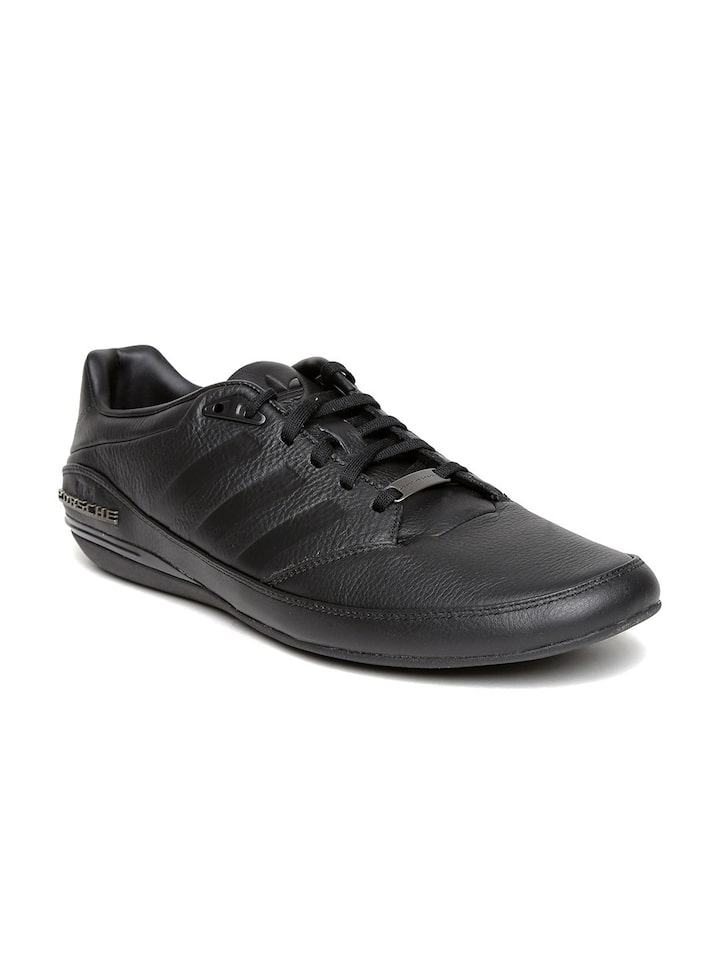 adidas all black leather shoes