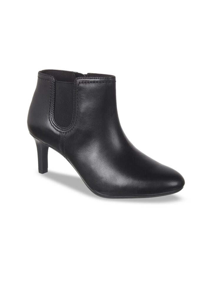 Solid Heeled Boots - Heels for Women