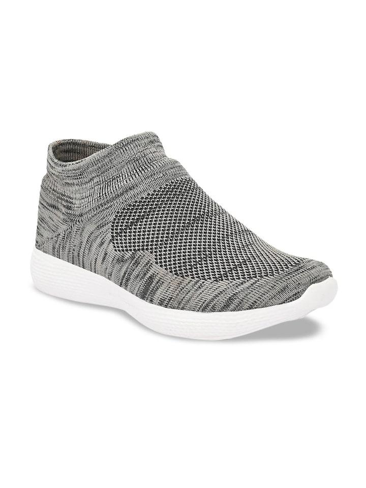 Buy AfroJack Men Grey Slip On Sneakers