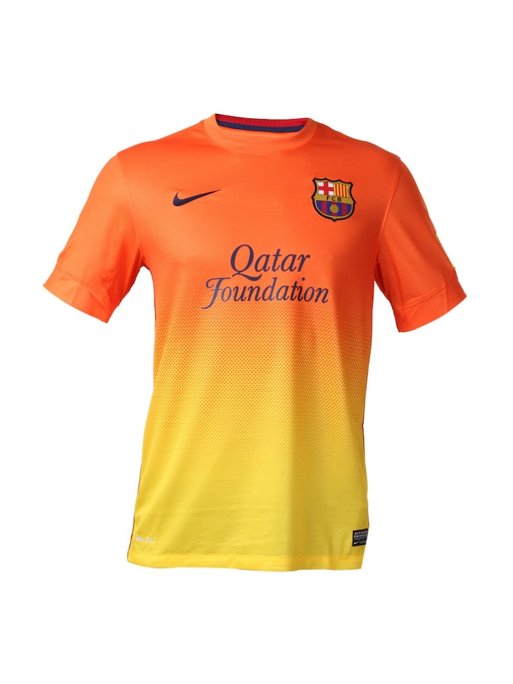 Buy Nike Men Orange Fc Barcelona Jersey Tshirts For Men 60954 Myntra