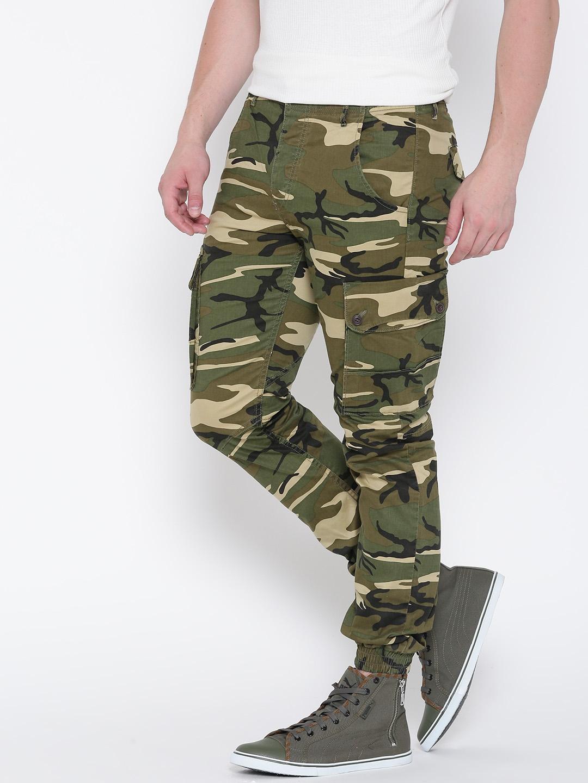 Camo Cargo Trousers Anti Green Fit Men qzpVSMGU