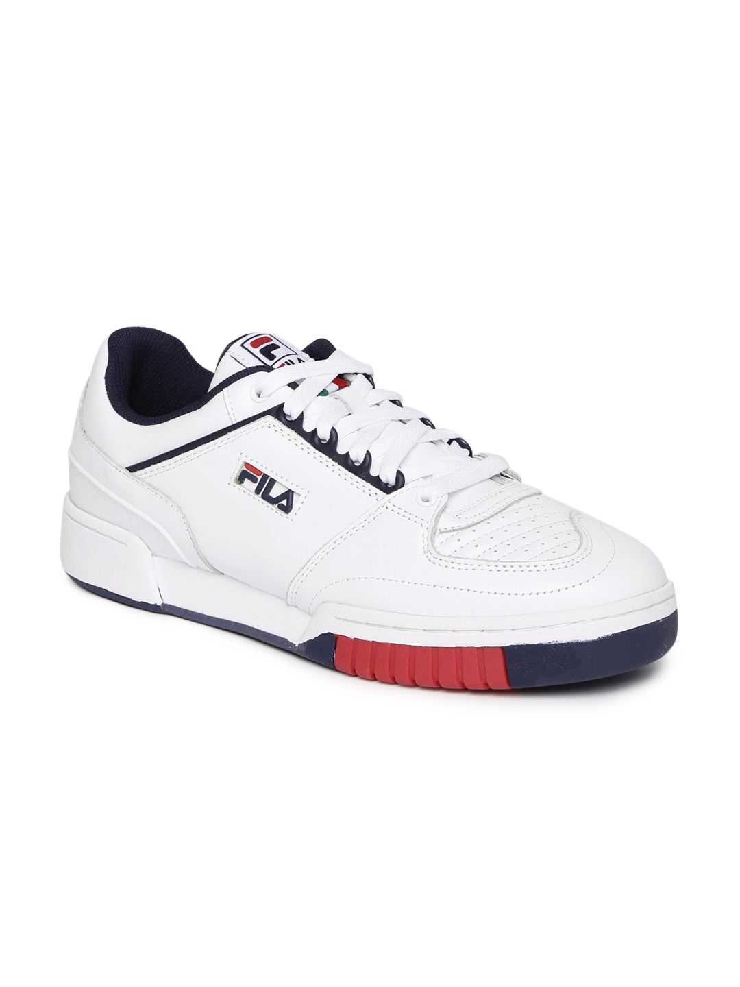 c50b7f97ee7 11523450751683-FILA-Men-White-Solid-Leather-Mid -Top-Targa-Sneakers-1021523450751526-2.jpg