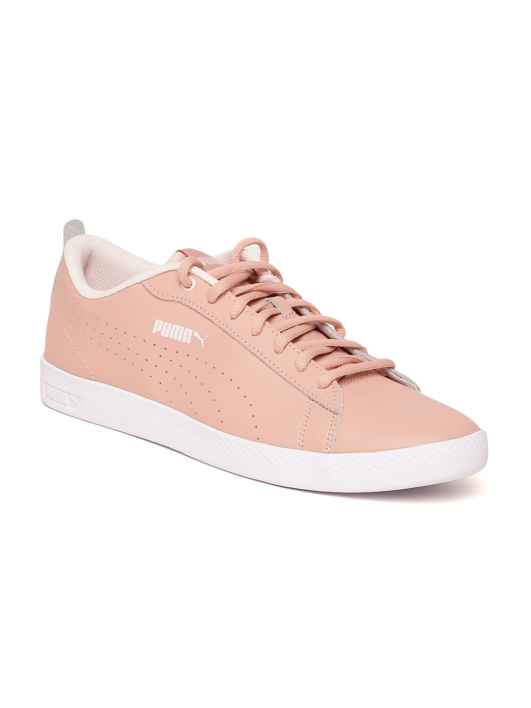 L Coloured Sneakers Leather Puma V2 Buy Peach Perforated Women Smash ctwqqS1YO