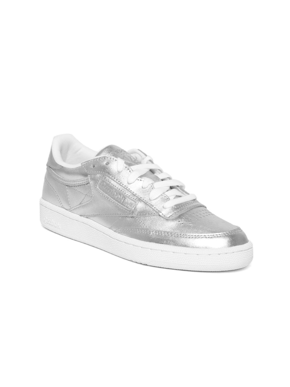 00594f17af9 Buy Shine C S Club 85 Toned Reebok Classic Silver Women Leather AfzwByaSqf
