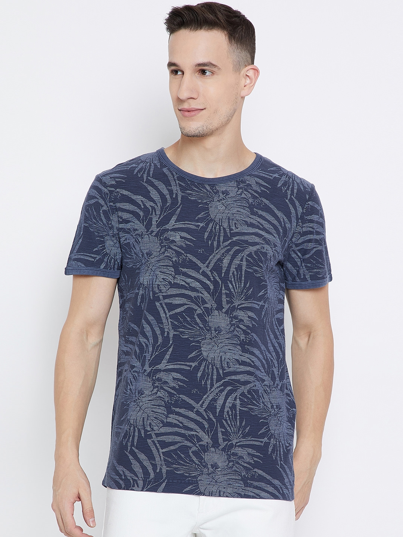 Blue Tshirts Printed Men Tailor Shirt T Neck Round Buy Tom Navy OPXlwkTZiu