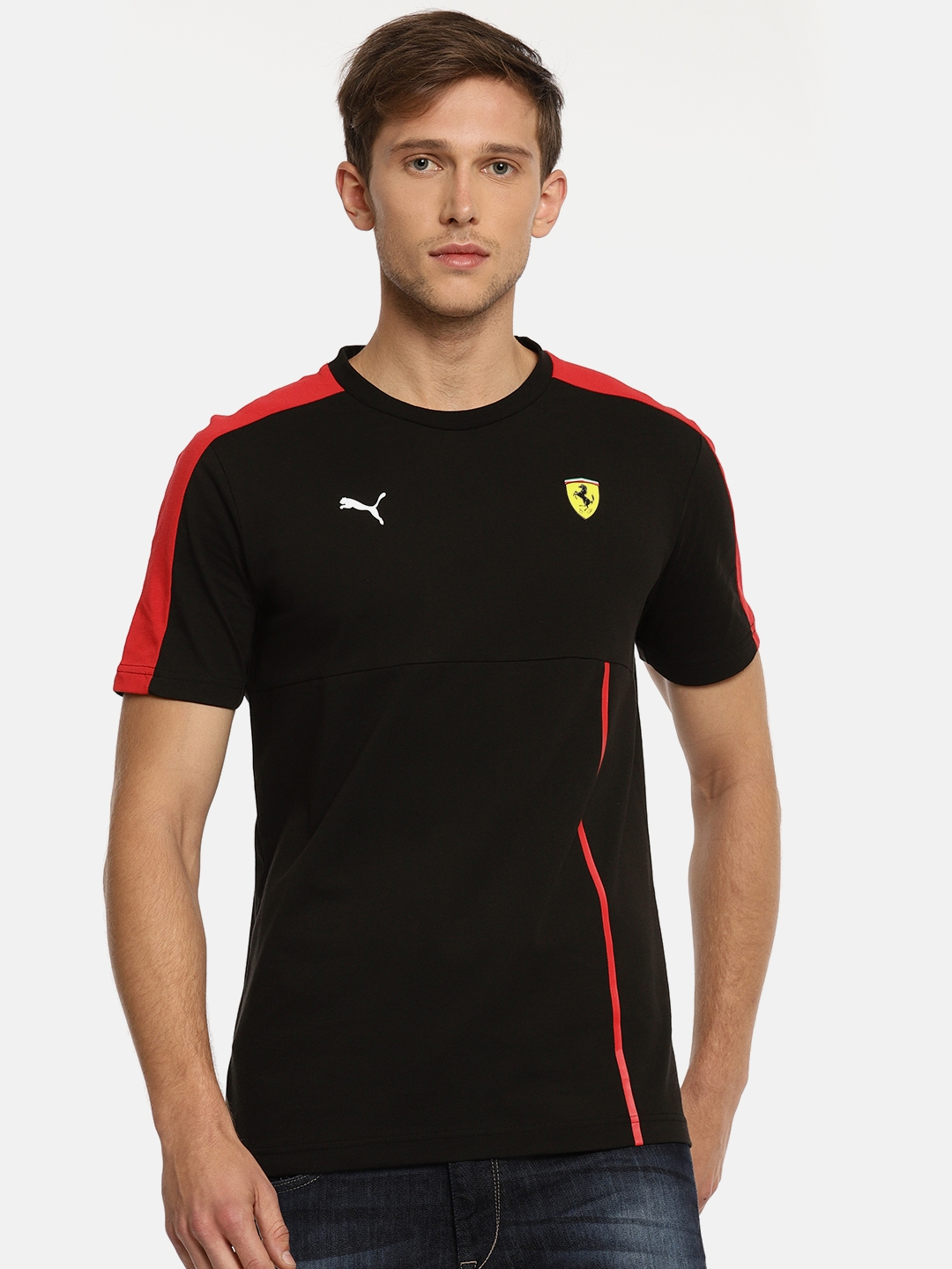 Black Puma T Ferrari Sf Solid Men T7 Shirt bgY76yvf