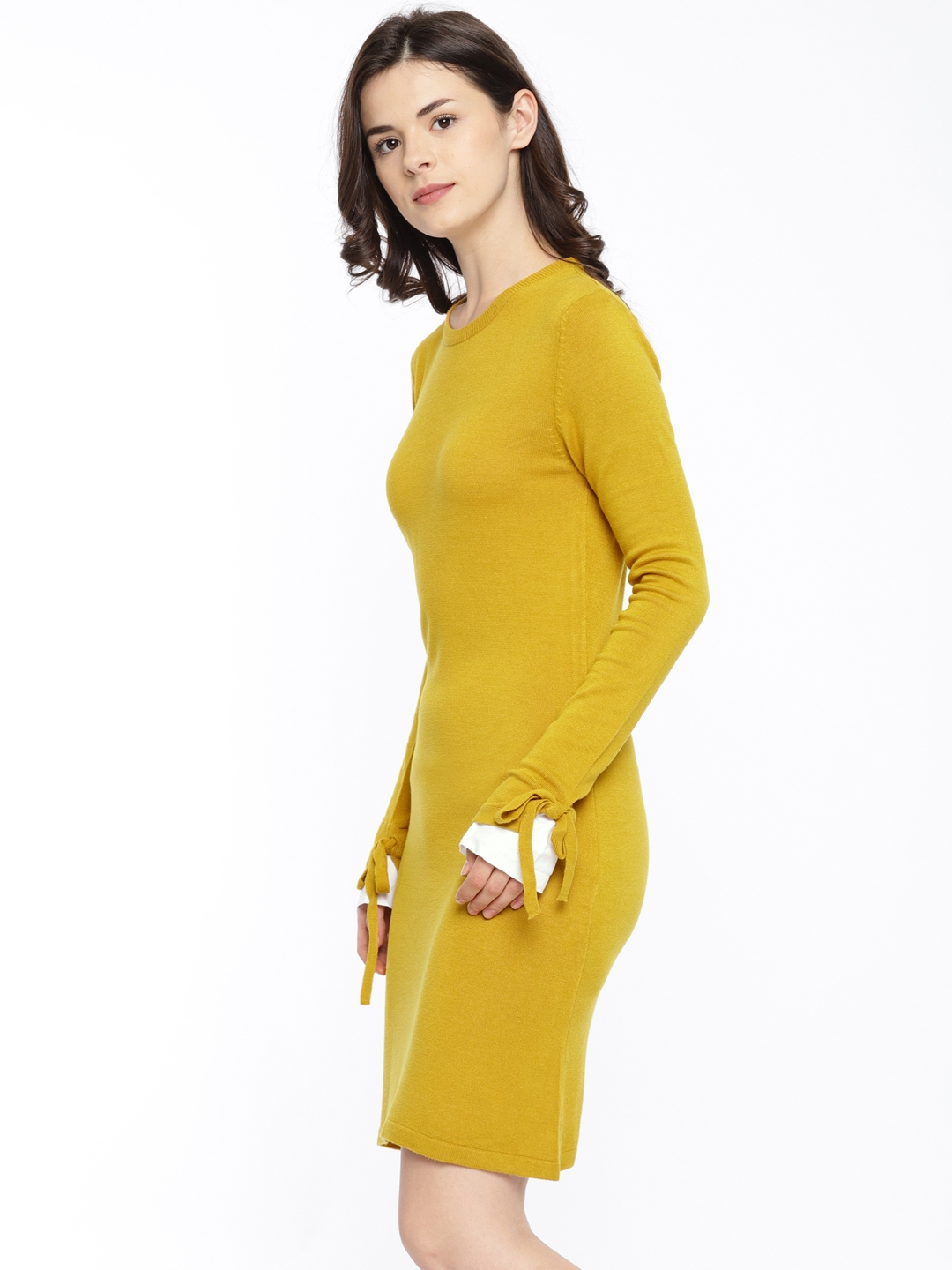Her Mustard Dress By Women Yellow Sweater Solid Buy Invictus kP8n0wO