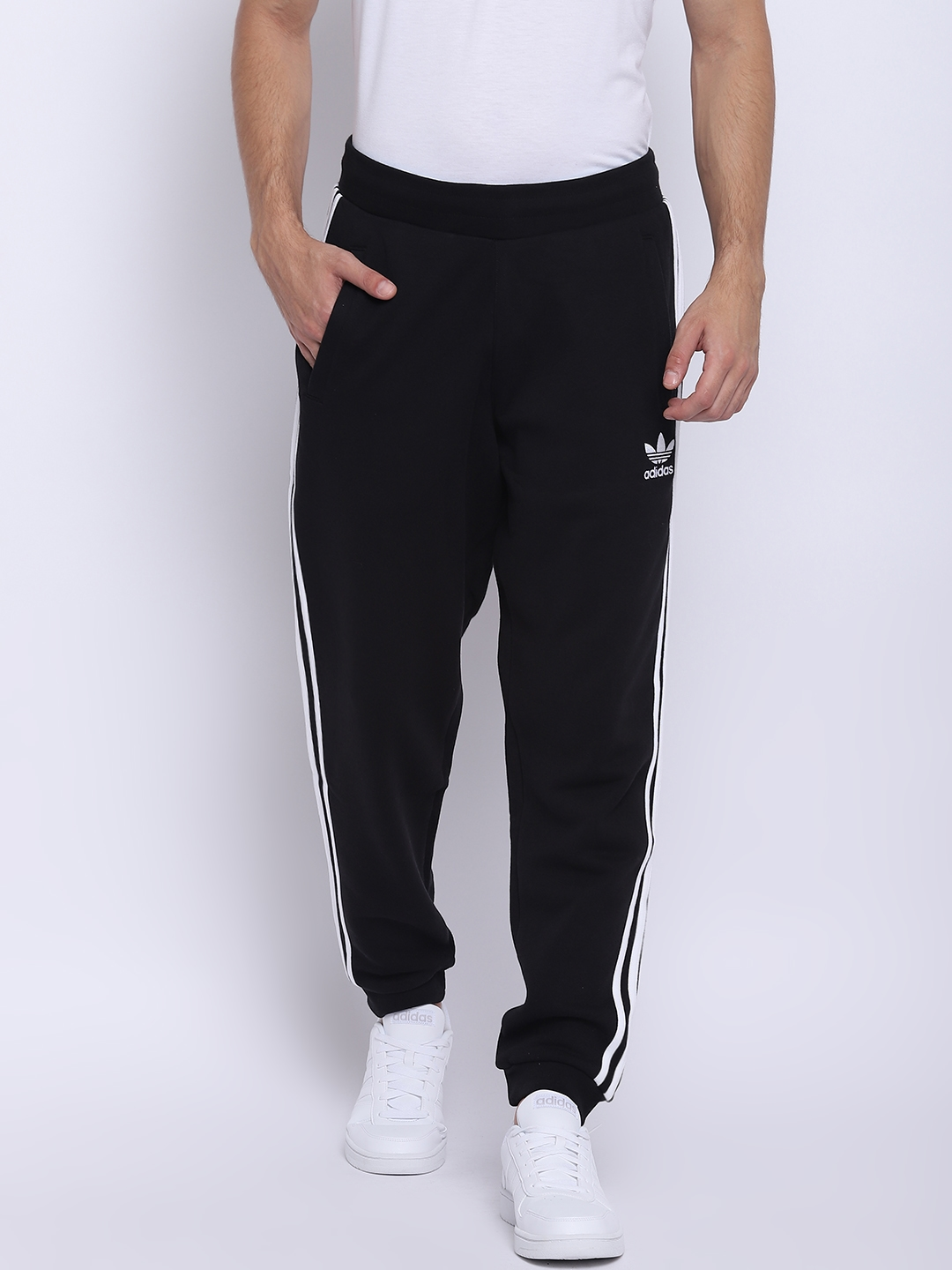88047c03731e4 3a015683-cb6f-4a96-bf87-1f66f4aca9f41538370422564-Adidas -Originals-Men-Black-3-Stripes-Joggers-5111538370422389-1.jpg