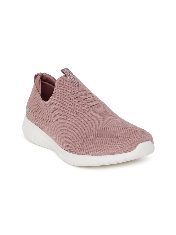 First Skechers On Flex Mauve Ultra Sneakers Slip Take Women OuikZXP