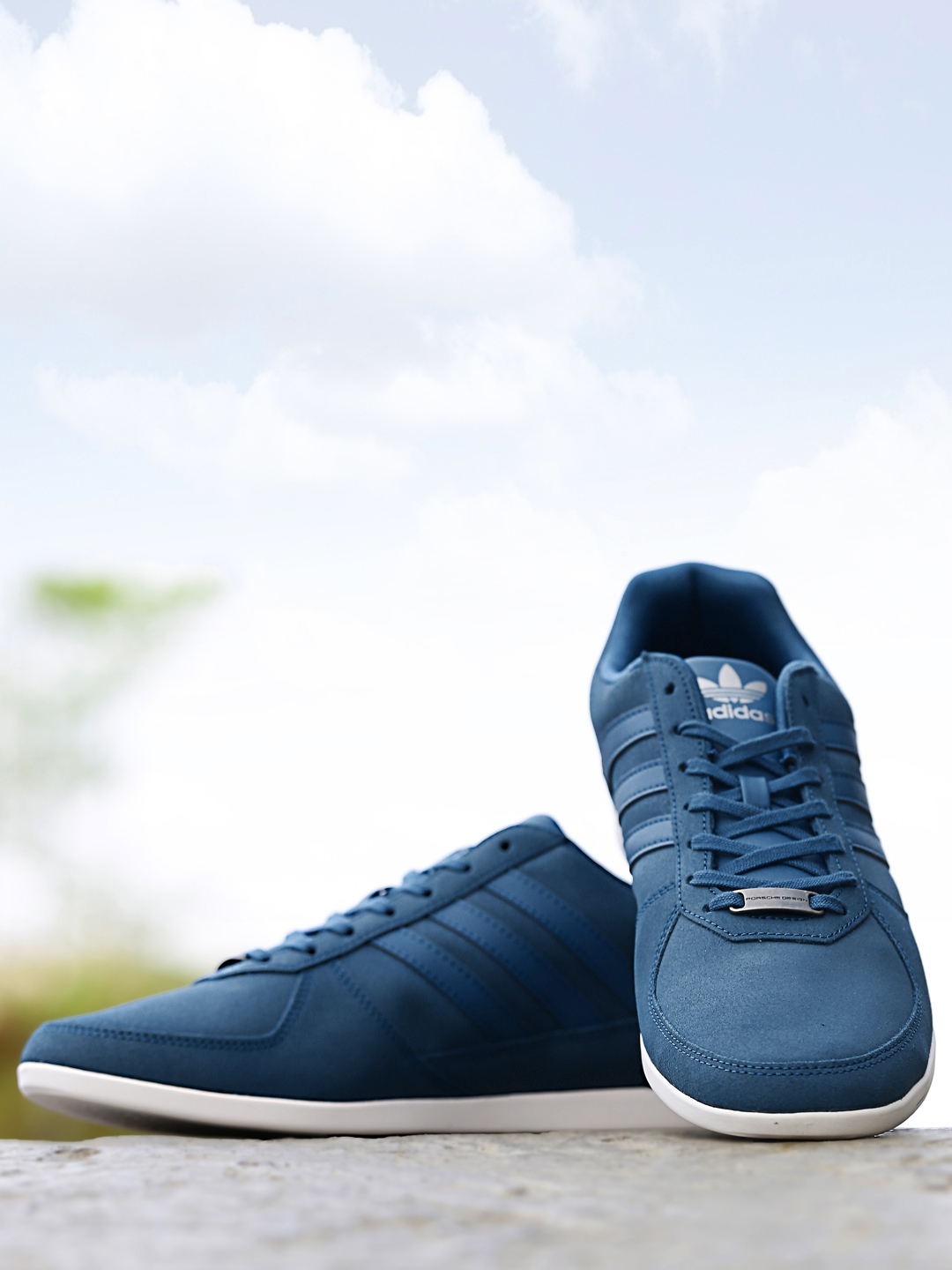 Adidas Originals Men Blue PORSCHE 360 1.2 Suede Sneakers
