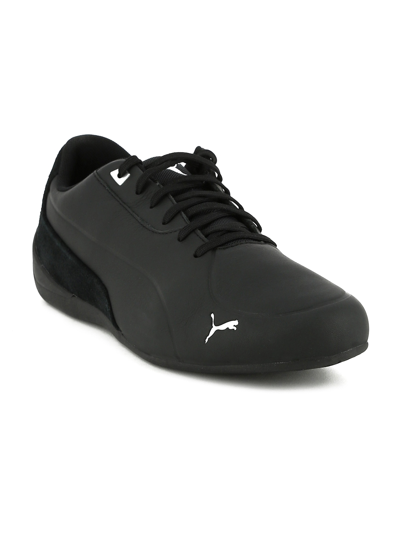 Puma Unisex Black Drift Cat 7 CLN Leather Sneakers