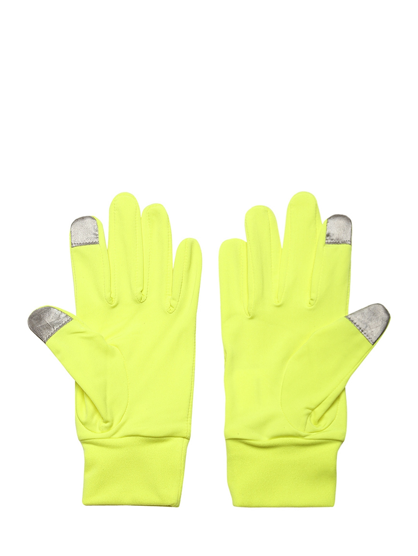 f6e3c2bc8d70 Buy PUMA Unisex Neon Green Running Performance Gloves - Gloves for ...