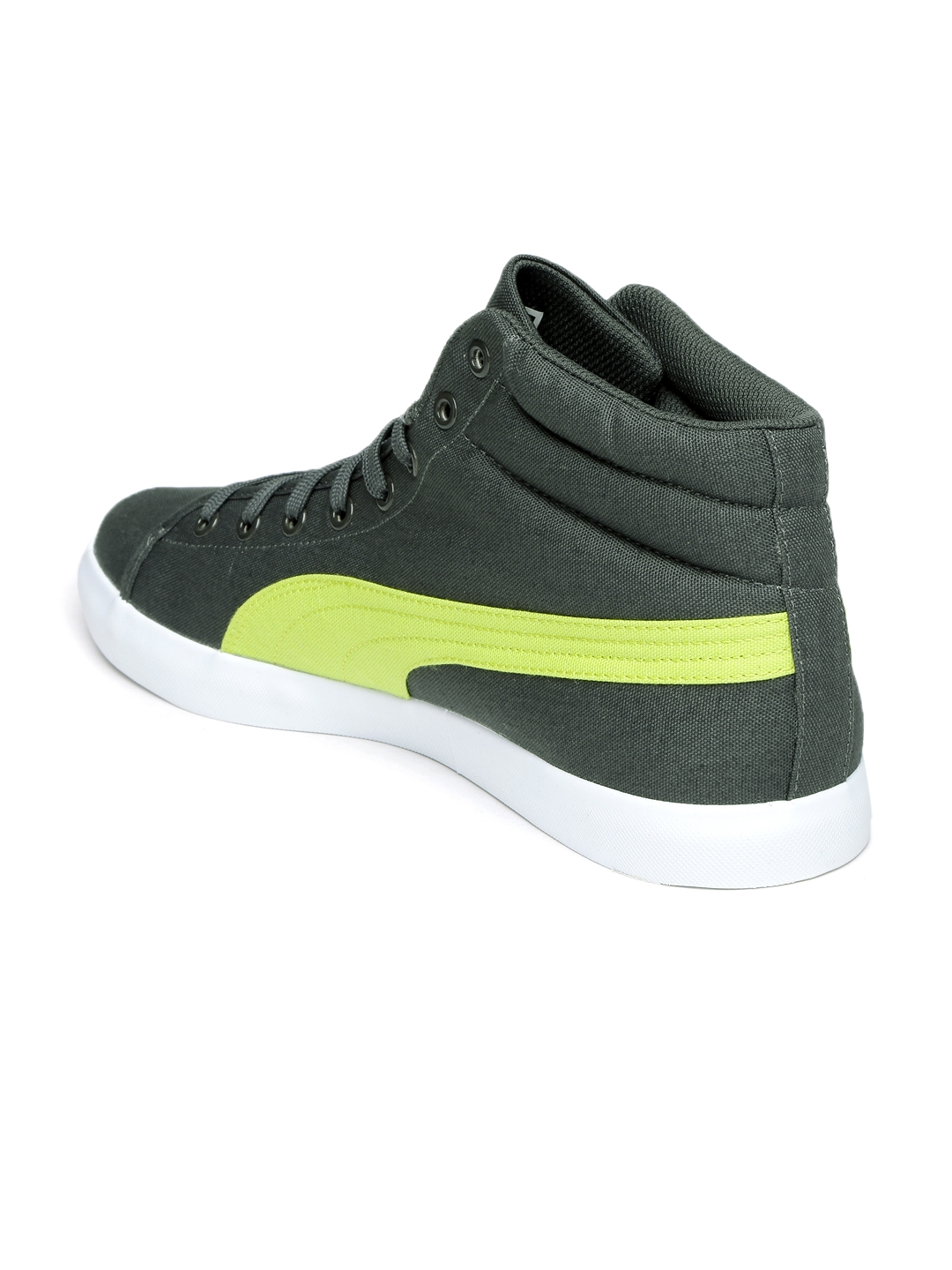 a0efd639f5dfaa Buy PUMA Unisex Grey Titan Canvas Mid DP Sneakers - Casual Shoes for ...
