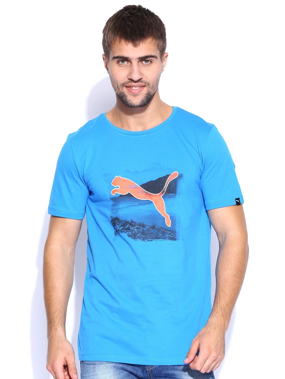b3fa5e4860c Buy PUMA Blue Summer T Shirt - Tshirts for Men 1002263 | Myntra