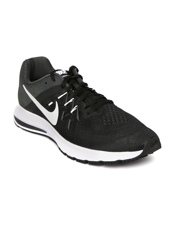buy popular 9aada 57aa9 Nike Men Black Zoom WinFlo 2 Sports Shoes